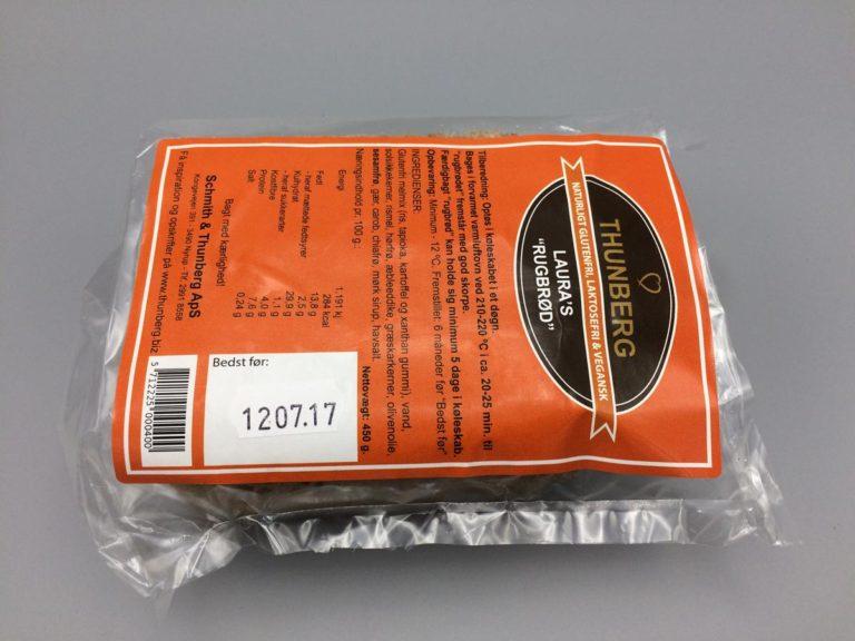450 grams glutenfri rugbrød