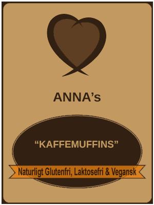 Anna's Kaffemuffins Glutenfri, laktosefri og veganske
